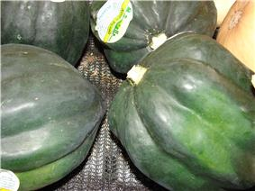 Green acorn squashes
