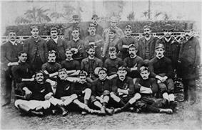 Photograph of the Native football team and management