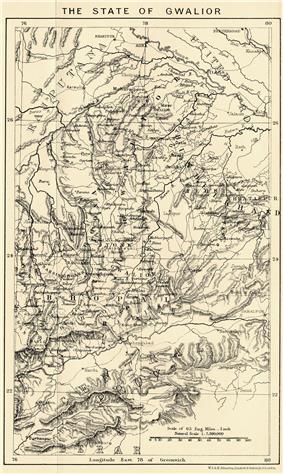 Location of Gwalior