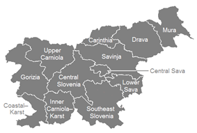 Map of the regions