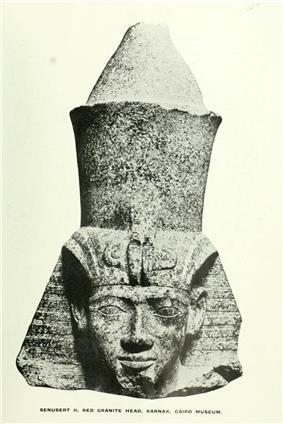 Head of a statue of Senusret II from Karnak