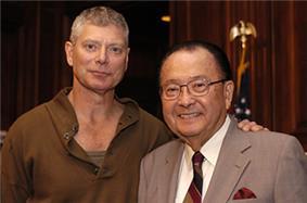 Lang with Senator Daniel Inouye