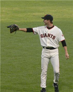 Steve Finley in a San Francisco Giants uniform