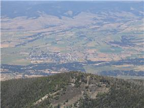 Stevensville and the Bitterroot River from Saint Mary's Peak (2005)