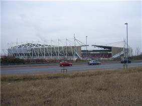Stoke City's stadium, the Britannia Stadium