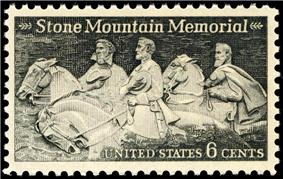 R. E. Lee, Jefferson Davis, Stonewall Jackson. Stone Mountain Issue of 1970