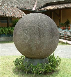 Stone sphere of Costa Rica located at National Museum.