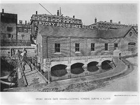 Stony Brook Gate House cleaning, 1880