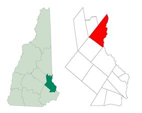 Location in Strafford County, New Hampshire