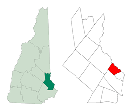 Location in Strafford County, New Hampshire