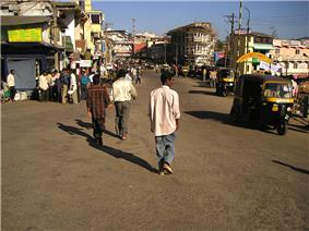 The streets of Madikeri