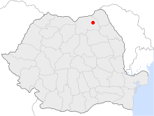 Location of Suceava