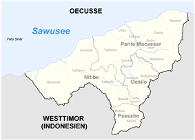 Subdistricts of Oecussi-Ambeno
