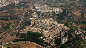 Aerial view of Mtarfa