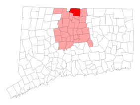Location within Hartford County, Connecticut