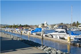 Suisun City Marina with City Hall in the background