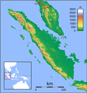 2009 Sumatra earthquakes is located in Sumatra Topography