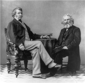 1863 photograph of Senator Charles Sumner wearing spats.