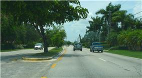 Sunset Drive westbound, just west of the Palmetto Expressway in Glenvar Heights, Florida, July 2008.