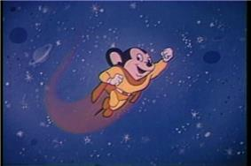 Late 1950's/1960's depiction of Mighty Mouse used in the opening of TV prints of some cartoons