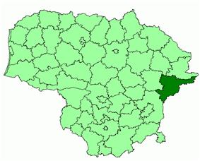 Location of Švenčionys District Municipality