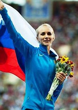 Svetlana Shkolina (RUS) won the women's high jump