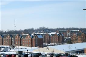Southwestern portions of the Lindenwood University campus