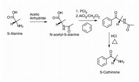 Synthesize enantiomerically pure S-Cathinone