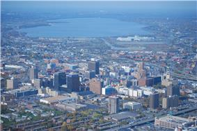 A view of the downtown Syracuse skyline