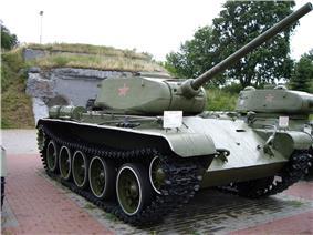 A T-44A tank on display in Brest, Belarus.