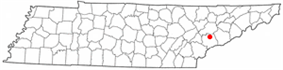 Location of Alcoa, Tennessee
