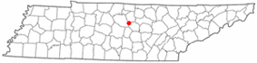 Location of Alexandria, Tennessee