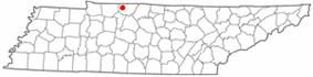 Location of Cedar Hill, Tennessee