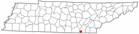 Location of Chattanooga, Tennessee
