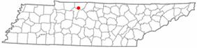 Location of Coopertown, Tennessee