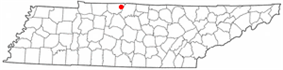 Location of Cross Plains, Tennessee