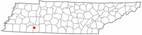 Location of Crump, Tennessee