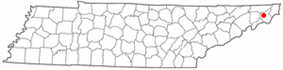 Map spot for Elizabethton, Tennessee