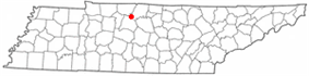 Location of Goodlettsville, Tennessee