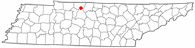 Location of Greenbrier, Tennessee