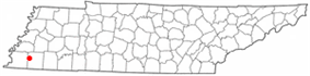 Location of Hickory Withe, Tennessee