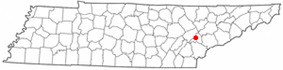 Location of Loudon, Tennessee