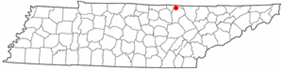 Location of Pall Mall, Tennessee