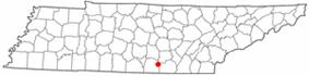 Location of Sewanee, Tennessee