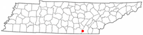 Location of Signal Mountain, Tennessee