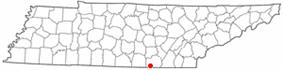 Location of South Pittsburg, Tennessee