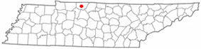 Location of Springfield, Tennessee