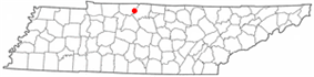 Location of White House, Tennessee