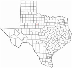 Location of Anson, Texas