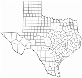 Location of Boerne, Texas